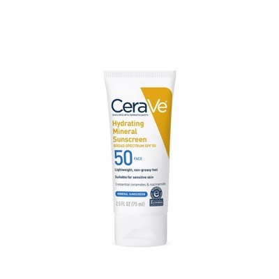 CeraVe Mineral Sunscreen Lotion for Face - SPF 50- 2.5oz