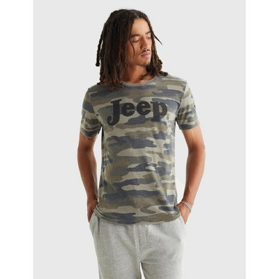 Lucky Brand Men's Short Sleeve T-Shirts - Camo Olive Multi