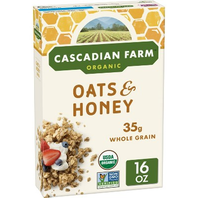 Cascadian Farm Oats & Honey Granola Breakfast Cereal  - 16oz