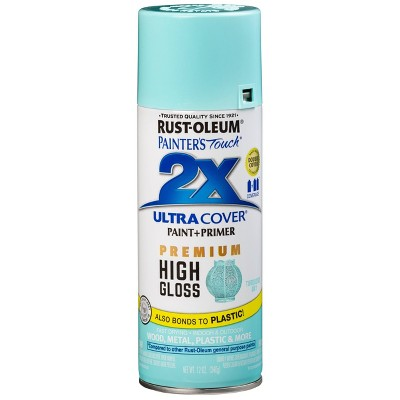 Rust-Oleum 12oz 2X Painter's Touch Ultra Cover High Gloss Spray Paint Turquoise