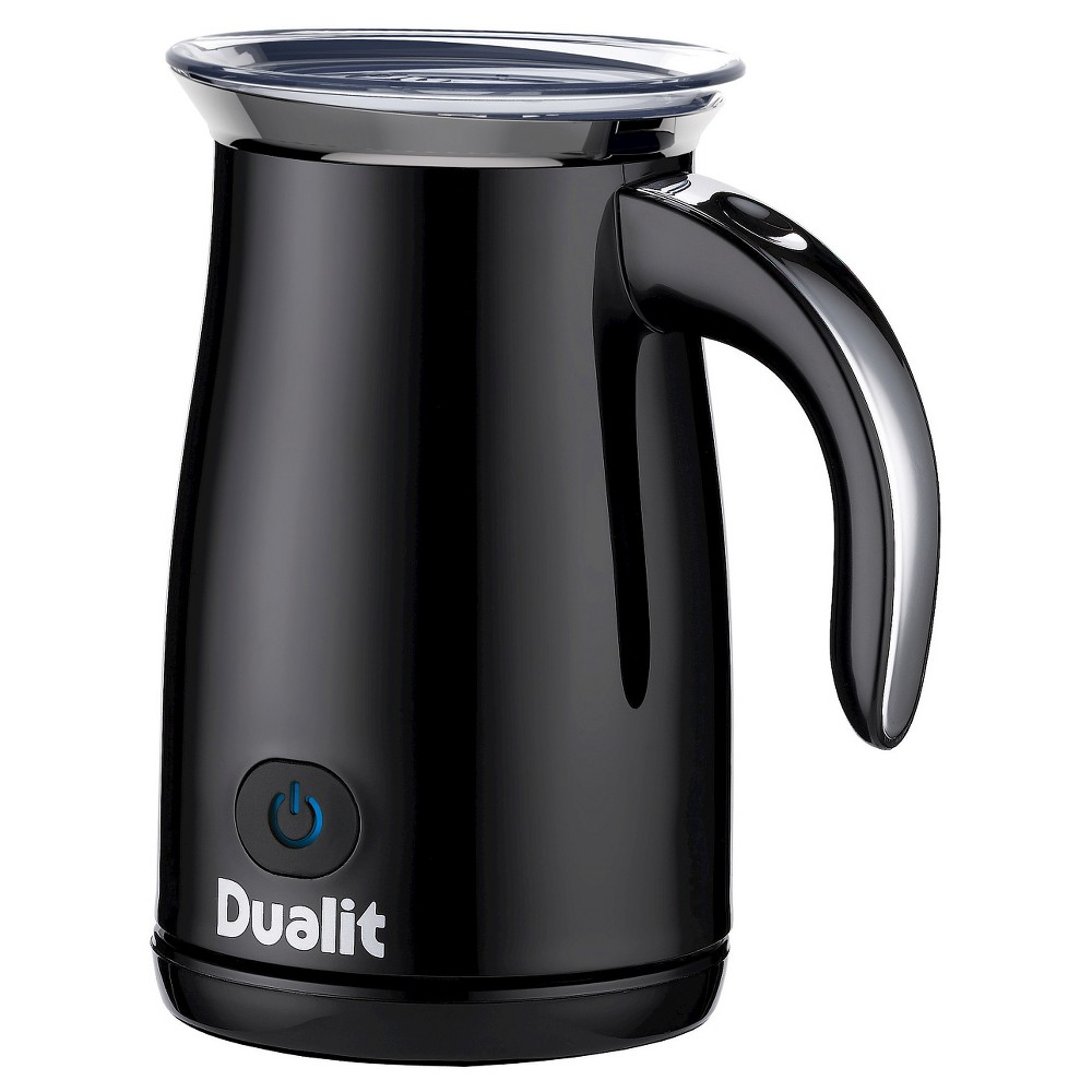 Dualit Hot/Cold Milk Frother – Piano Black Steel, Black/Silver 50630150