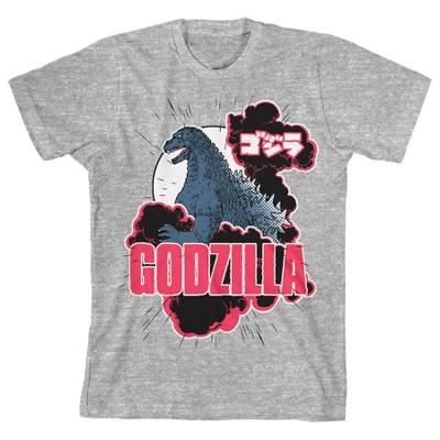 Classic Godzilla Youth Heather Gray Graphic Tee