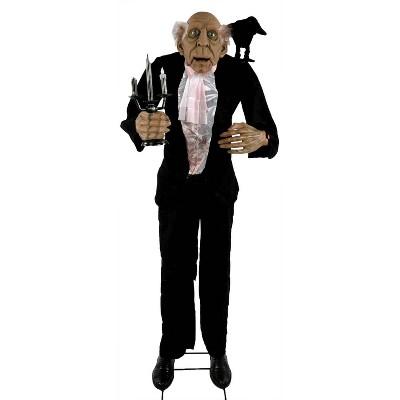 5.6' Halloween Animated Butler