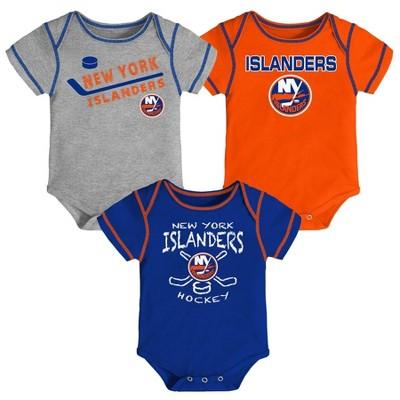 NHL New York Islanders Baby Boys' Game Winner Bodysuit Set 3pk - 3-6M