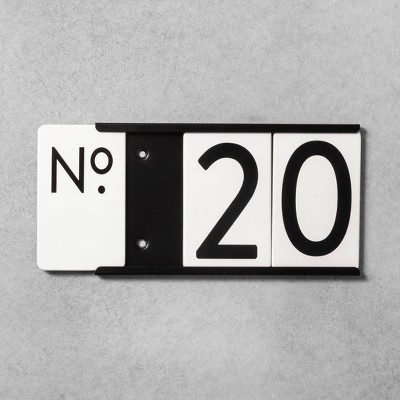 House Numbers Mounting Plate Black 3 Spaces - Hearth & Hand™ with Magnolia