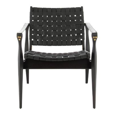 Dilan Leather Safari Chair - Safavieh