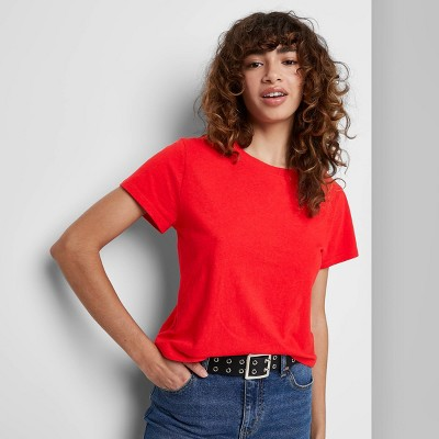 Women's Short Sleeve Shrunken Boxy T-Shirt - Wild Fable™