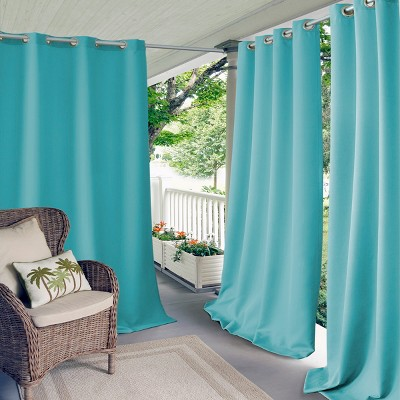Connor Solid Indoor/Outdoor Window Curtain for Patio, Pergola, Porch, Cabana, Deck, Lanai - Elrene Home Fashions