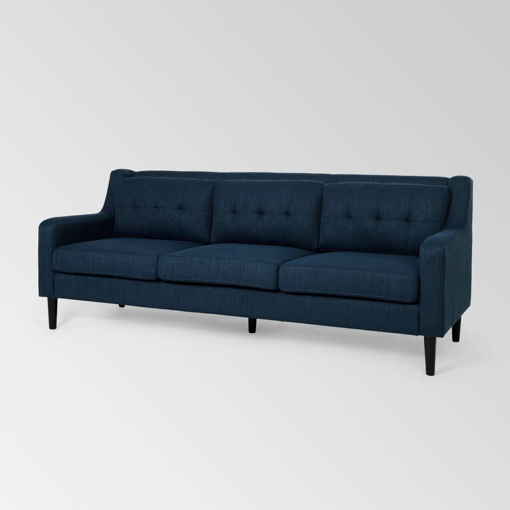 Reynard Tufted Sofa Navy - Christopher Knight Home was $899.99 now $584.99 (35.0% off)