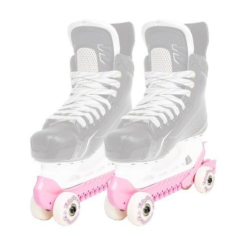 Rollergard 44374-P Adjustable Strap Kids Ice Skate Blade Guard & Roller Skate, Pink (Pair) - image 1 of 4