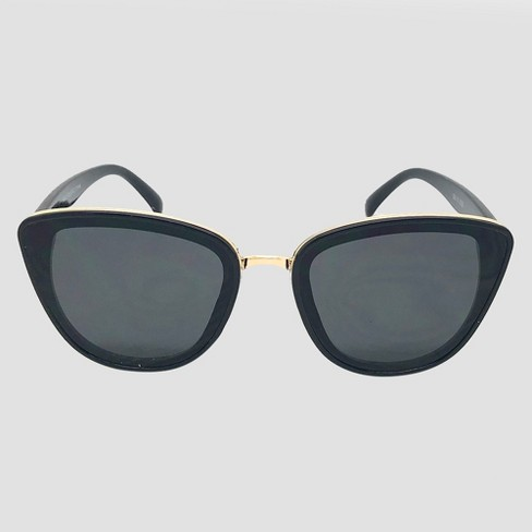 Women's Cateye Sunglasses - A New Day™ Black - image 1 of 2