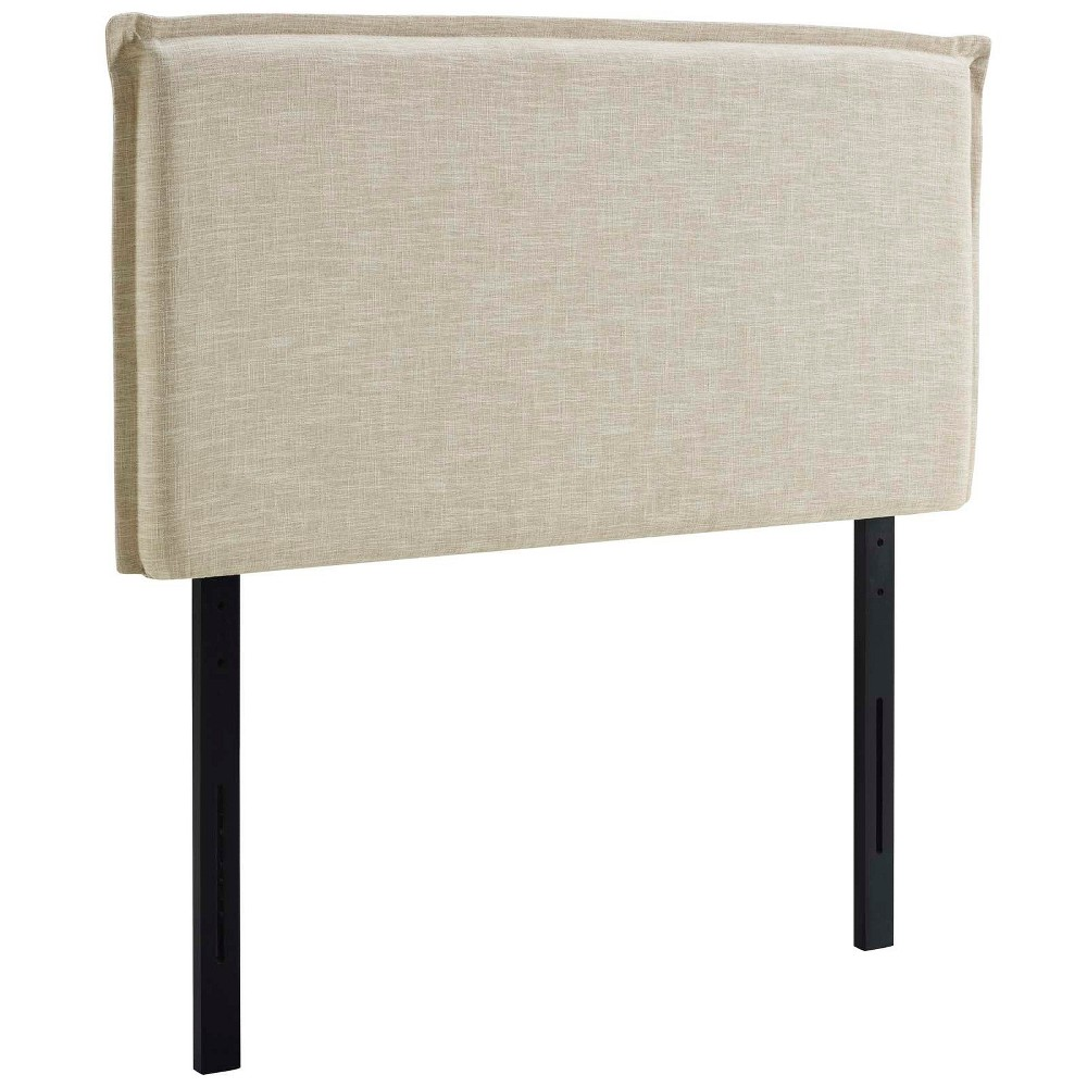 Camille Twin Upholstered Fabric Headboard Beige - Modway