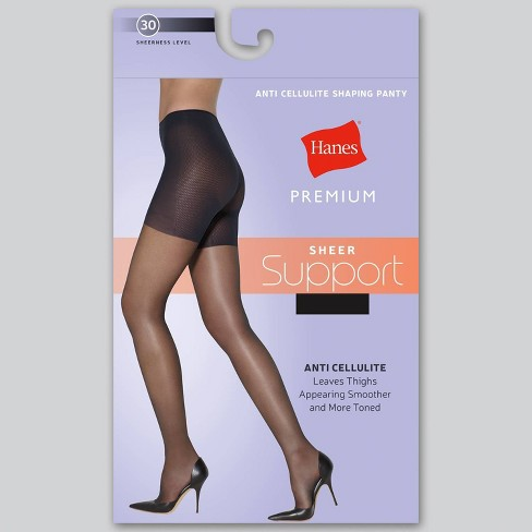 Hanes Solutions Women's Sheer Hi Waist Shaping Pantyhose - image 1 of 4