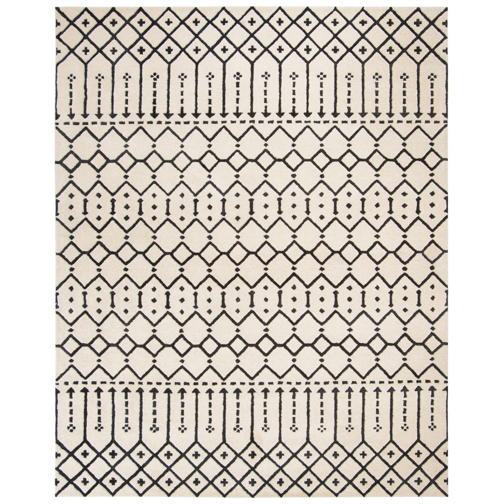 8'X10' Tribal Design Tufted Area Rug Ivory/Black - Safavieh