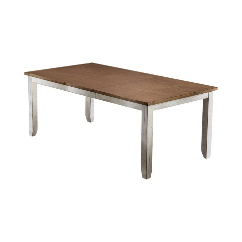 Lowe Rectangular Wood Dining Table Antique White - Sun & Pine - image 1 of 4