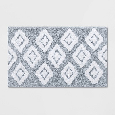 Diamond Bath Rug Gray - Threshold™