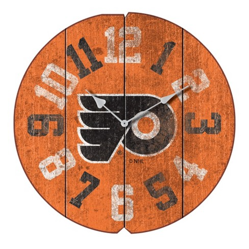 NHL Philadelphia Flyers Vintage Round Clock - image 1 of 1