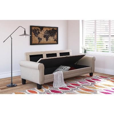 "77"" Round Copenhagen Arm Fabric Sofa with Storage - Serta"