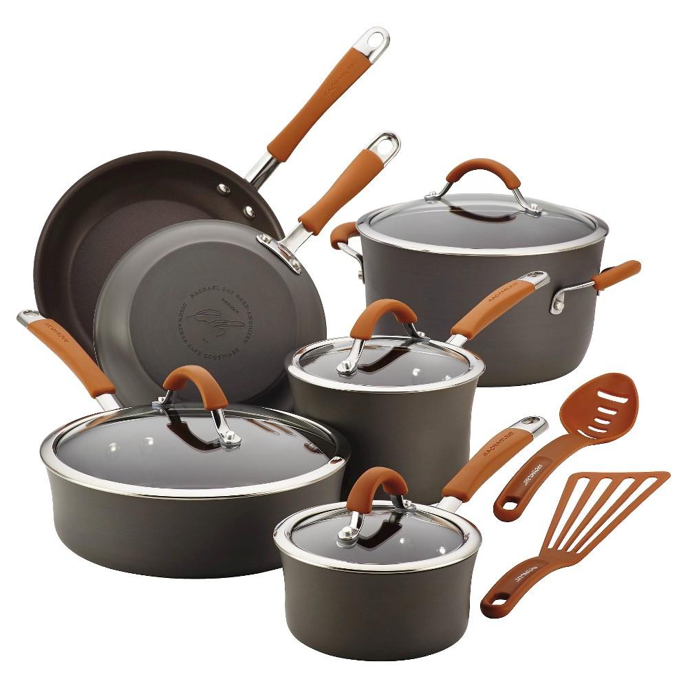 Rachael Ray Nonstick 12Pc Cookware Set, Gray