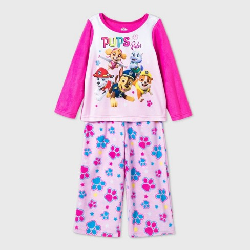 Toddler Girls' 2pc PAW Patrol Fleece Pajama Set - Pink - image 1 of 1