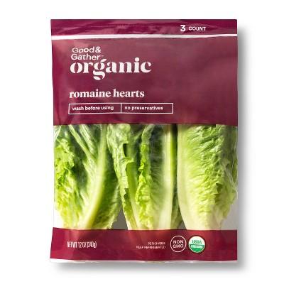 Organic Romaine Hearts - 12oz/3ct - Good & Gather™