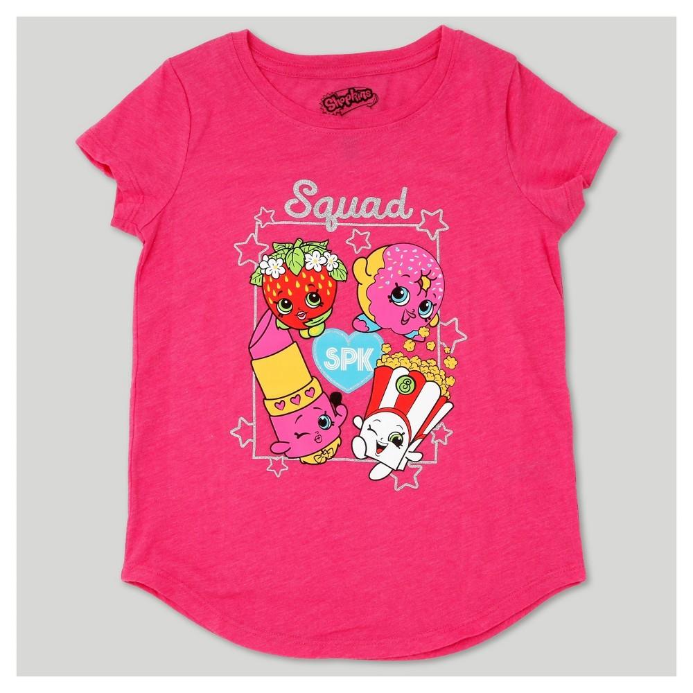 Girls' Shopkins Short Sleeve T-Shirt - Pink XS