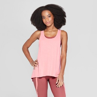 Women's 2-in-1 Tank Top - C9 Champion® Coral/Brick Red L