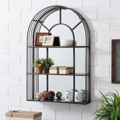 Callaway Arch Mirror with Shelves - FirsTime