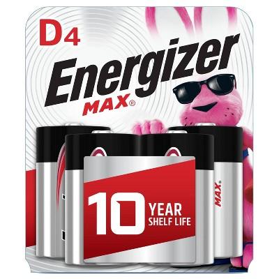 Energizer 4pk MAX Alkaline D Batteries
