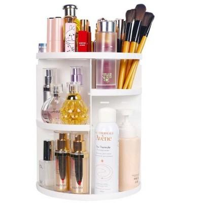 360 Makeup Organizer, DIY Detachable Spinning Cosmetic Makeup Caddy Storage Display Bag Case Large Capacity Makeup Box Acrylic Vanity Organizer Box,