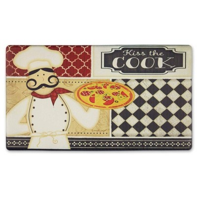 """Home Dynamix 19"""" x 35"""" Kiss The Cook Kitchen Mat"""