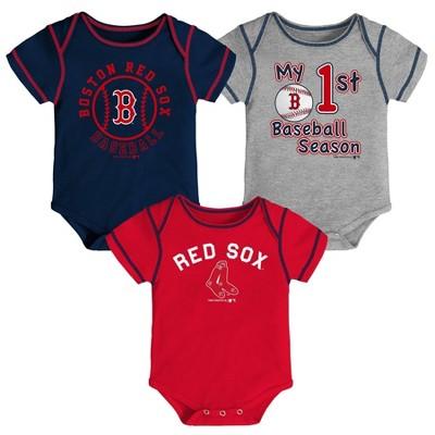 R28 Baseball RED SOX Ball Quote baby bodysuit Baby White