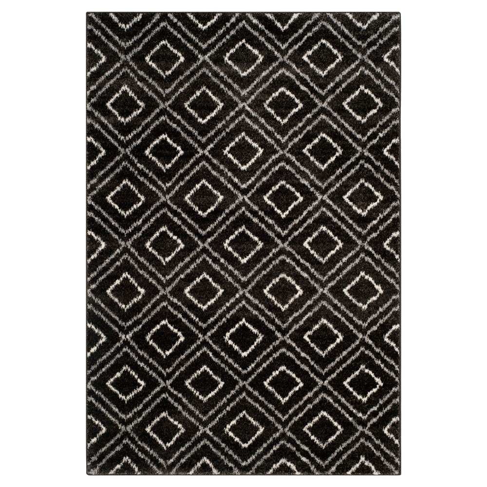 Anthracite/Cream Abstract Loomed Area Rug - (6'7