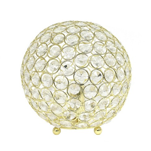 """8"""" Crystal Ball Sequin Table Lamp Gold - Elegant Designs - image 1 of 4"""