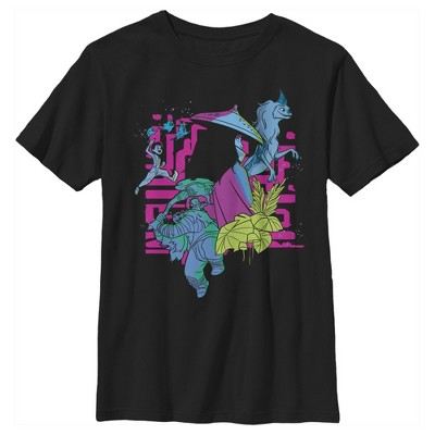 Boy's Raya and the Last Dragon Colorful Characters in Action T-Shirt