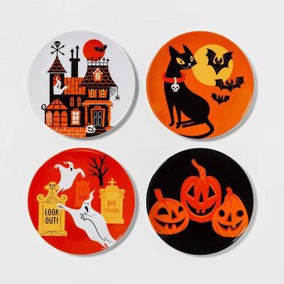 4pk Halloween Melamine Plates - Hyde & EEK! Boutique™