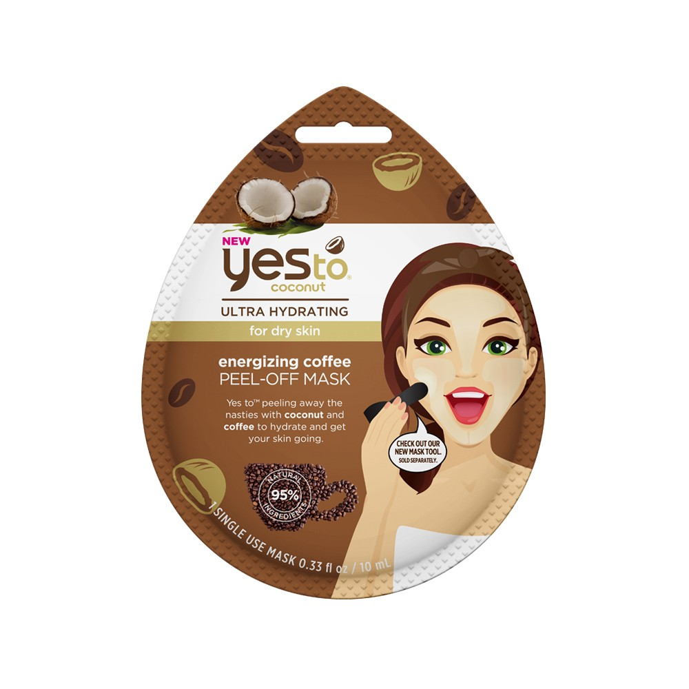 Image of Yes To Coconut Energizing Coffee Peel Off Single Use Face Mask - 0.33 fl oz