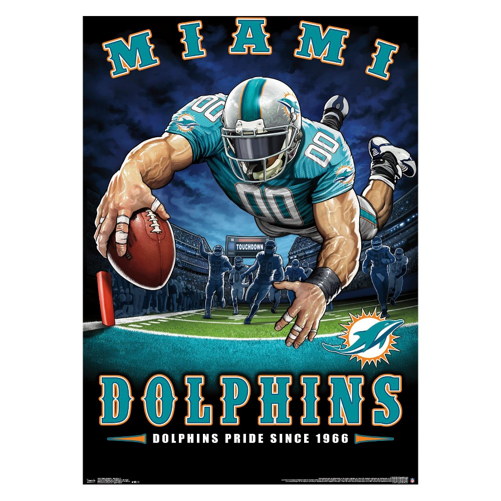 Miami Dolphins End Zone Unframed Wall Poster