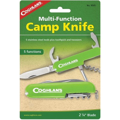 Coghlan's Multi-Function Camp Knife, 5 Functions, Army Camping Swiss Style