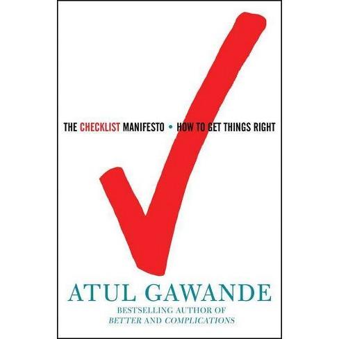 The Checklist Manifesto - by  Atul Gawande (Hardcover) - image 1 of 1