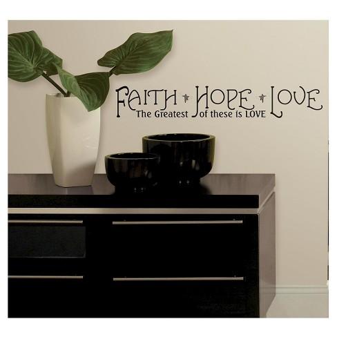 RoomMates Faith, Hope & Love Peel & Stick Quotable - image 1 of 3