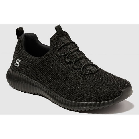 1d41df2c21c12 S Sport By Skechers Women s Knit Pull-On Sneakers - Black 7   Target
