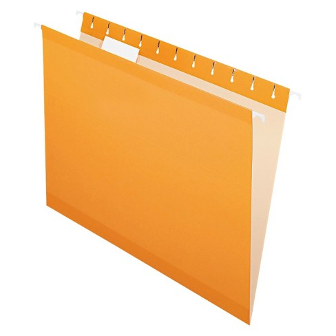Pendaflex® Reinforced Hanging File Folders with 1/5 Tab Letter 25ct Orange - image 1 of 2