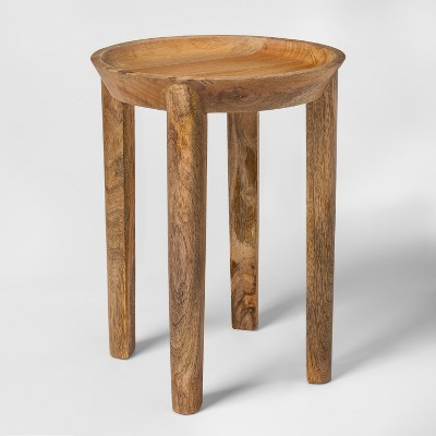 Genial Carved Wood Accent Table   Threshold™ : Target