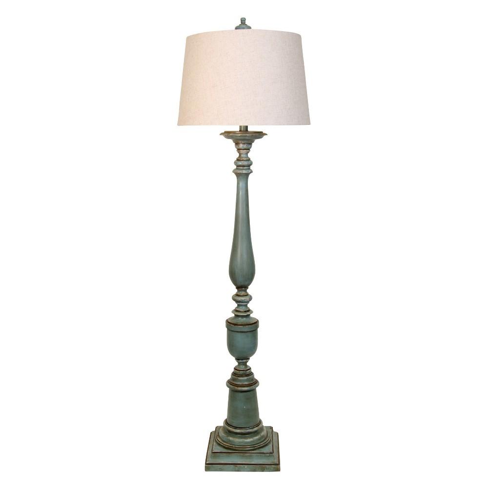 Avignon Finish Hardback Fabric Shade Floor Lamp Blue (Lamp Only) - Stylecraft