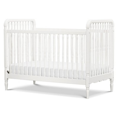 Million Dollar Baby Classic Liberty 3-in-1 Convertible Spindle Crib with Toddler Rail - Warm White