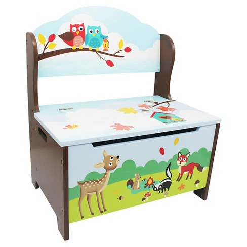 Enchanted Woodland Storage Bench Wood - Teamson - image 1 of 5