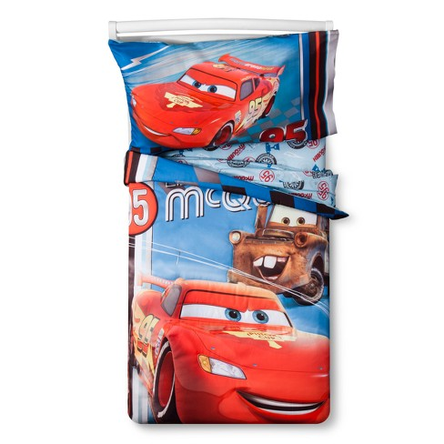 Cars Red & Blue Bedding Set (Toddler) 4pc - image 1 of 3