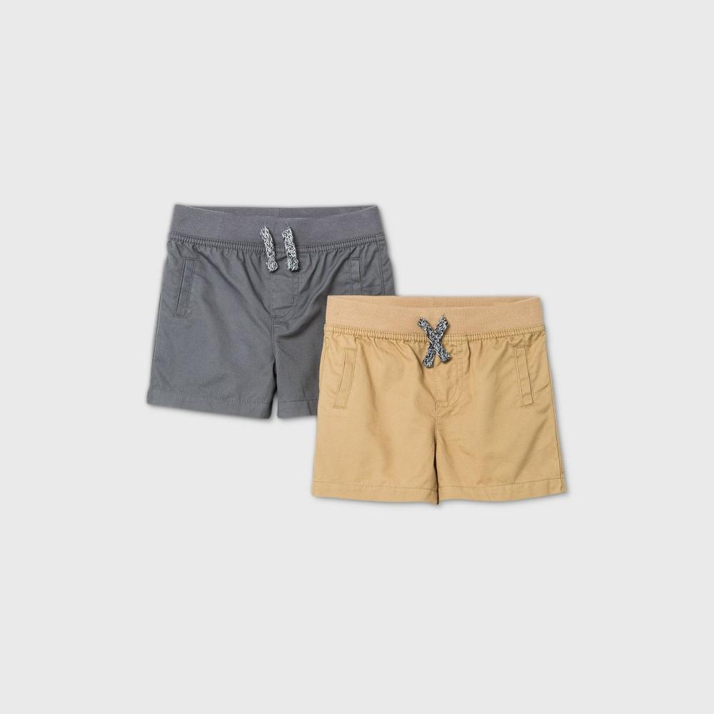 Baby Boys 39 2pk Woven Chino Shorts Cat 38 Jack 8482 Gray Newborn