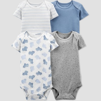 Baby Boys' 4pk Bear Bodysuit - Just One You® made by carter's Blue 3M